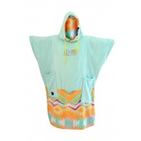 Poncho All-in V Bumpy (Indian Corail/blue Sky)