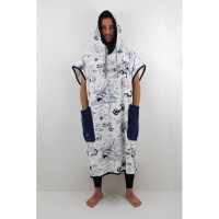 Poncho All-in Classic Bumpy (Storm Print / Navy)