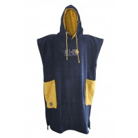 Poncho All-in Classic Bumpy (Navy/lemon Curry)