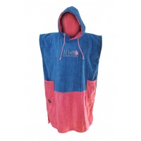 Poncho All-in Classic Bumpy (Blue/pink)