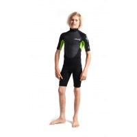 Shorty enfant CSkins Element 3/2 mm (Lime)