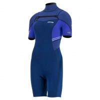 Shorty femme Prolimit Edge 2/2 mm Front-Zip (Navy Blue)