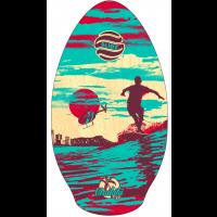 Skim en bois Slidz Waikiki Teal/Red 37