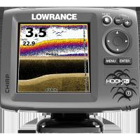 Sondeur/GPS pour kayak Lowrance HOOK-5x CHIRP + Sonde 83/200/455/800 kHz