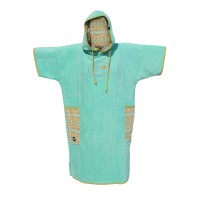 Poncho All-in Classic Bumpy (Turquoise/indian Print)