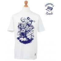 T-Shirt Palam Senor Octopus (Blanc et logo bleu)