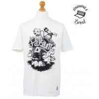 T-Shirt Palam Senor Octopus (Blanc et logo noir)