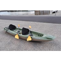 kayak Bic TRINIDAD pêche occasion + 2 pagaie, 2 dosserets