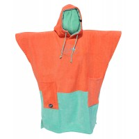 Poncho All-in V Bumpy (Coral/turquoise)