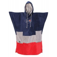 Poncho All-in V Bumpy (Navy/med Grey/red)