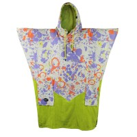 Poncho All-in V Bumpy (Viola Paint Print)
