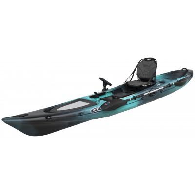 Kayak RTM Abaco 420 Premium (+ Pagaie fibre + Fauteuil) (Couleur Steel : Turquoise et Noir)