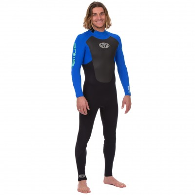 Combinaison de surf Animal Lava 3/2 mm (BackZip) Bleu
