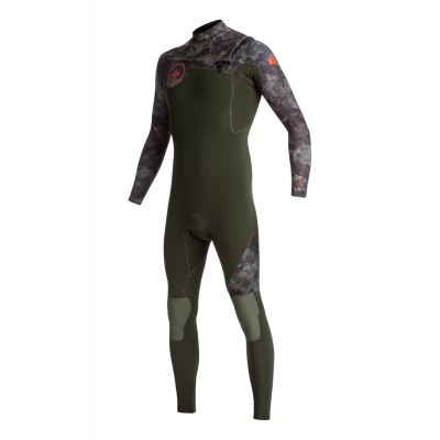 Combinaison de surf Quiksilver Syncro 4/3 mm GBS Front-Zip (Camouflage)