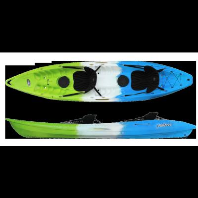Kayak Feelfree Gemini (2 places) (Bleu/blanc/vert)