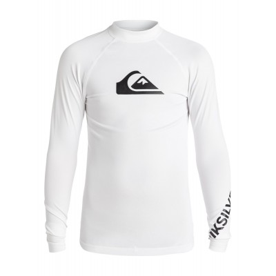 Lycra UV quiksilver All time manches longues (Blanc)