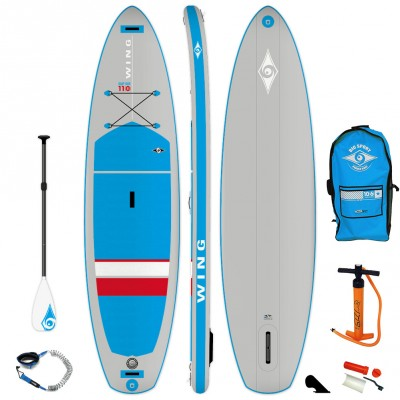 Pack SUP Paddle gonflable Bic 11' Wing Air + Pagaie + Leash 2019