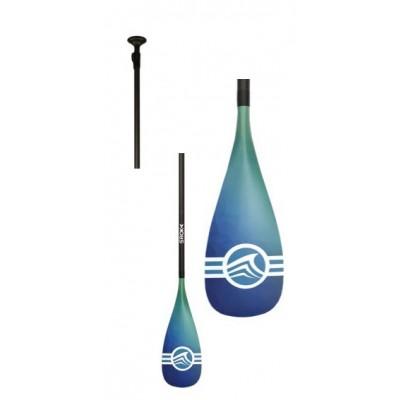 Pagaie de paddle Sroka démontable et réglable (Pagaie 50% carbone) - Bleu