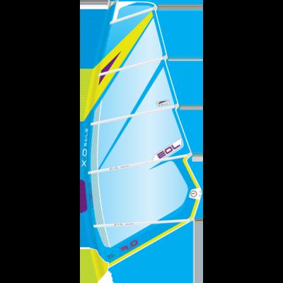 Voile XO Sails EOL (6.0 m ²) 2017 (Bleu/Jaune)