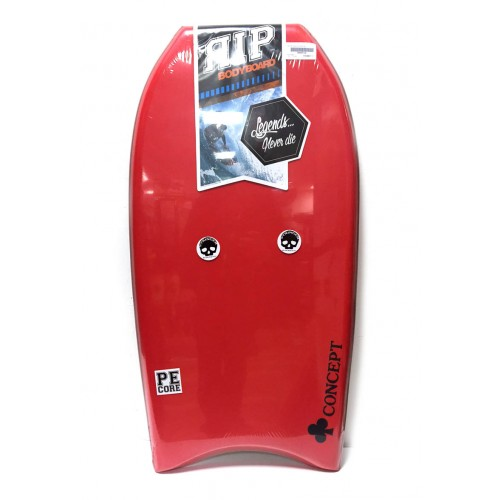 Bodyboard RIP Concept PE 40 (Rouge) + Housse