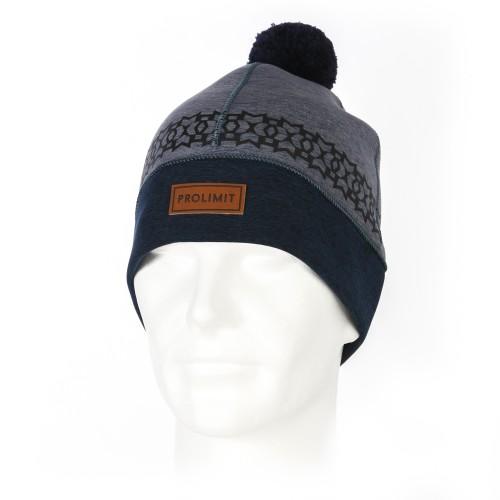 Bonnet en néoprène Prolimit Pompon (Grey/Blue)