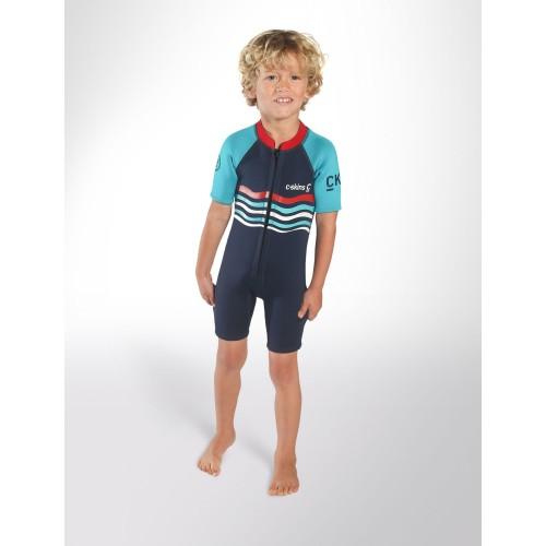 Shorty enfant C-Skins C-KID Wave Bleu (3/2 mm)