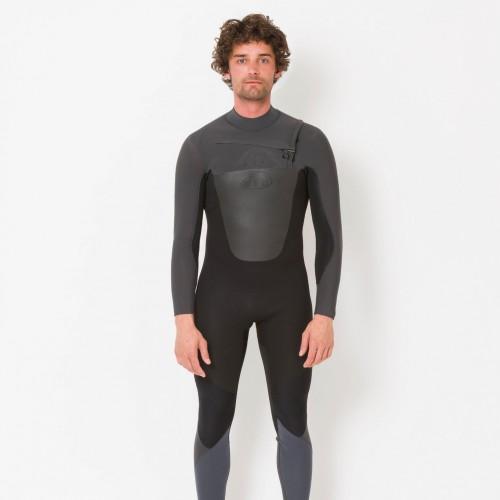 Combinaison de surf Animal Lava 5/4/3 mm Front-Zip (Black)
