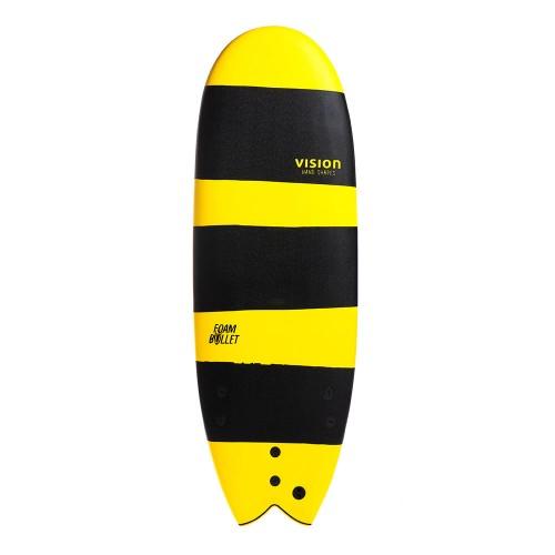 Planche de surf en mousse Vision 5'4 Foam Bullet + Leash