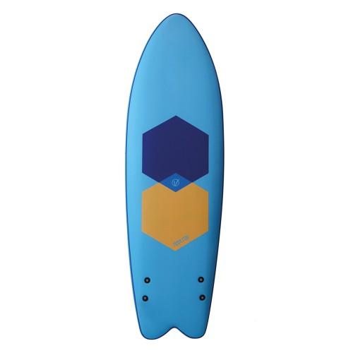Planche de surf en mousse Vision 5'11 Foam Fish + Leash