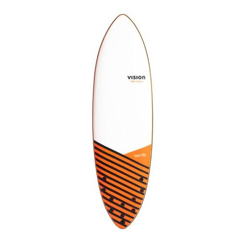 Planche de surf en mousse Vision 6'0 Foam Slider + Leash