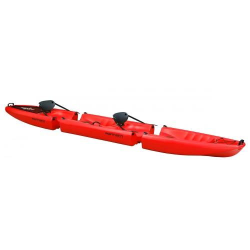 Kayak démontable en plusieurs parties Point 65 Falcon 2 places (Rouge)