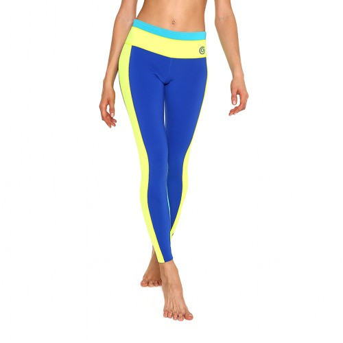 Pantalon néoprène femme GlideSoul 1mm (Bleu/Jaune)