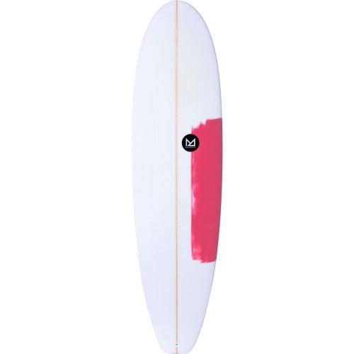 Planche de surf Mahalo 6'8 Fun Squash Keanu (Fluro Red)