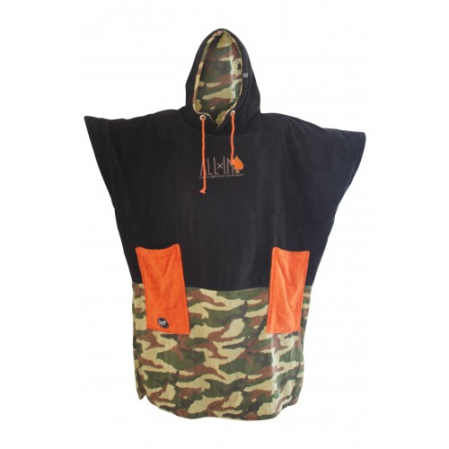 Poncho All-in V Bumpy (Camo Black/hot Corail)