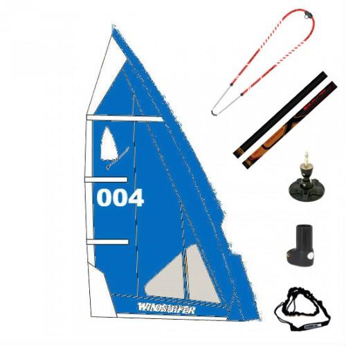 Gréement complet XO-Sails et voile Windsurfer LT 5.7 m² (Full Blue : Bleu)