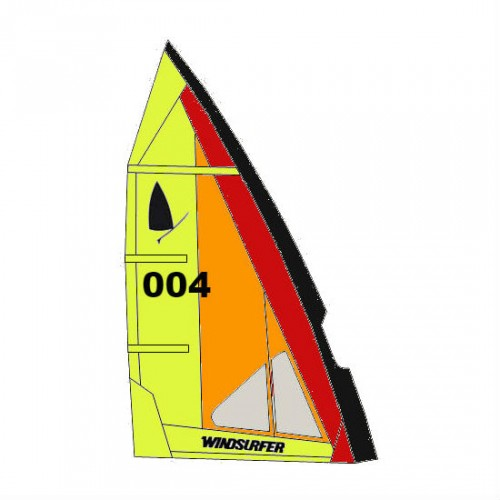 Voile Windsurfer LT 5.7 m² (German Sunset : Orange/Rouge/Noir/Jaune)