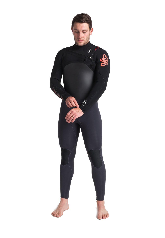 Combinaison de surf C-skins Wired 5/4 mm Front-zip (Noir/Anthracite)