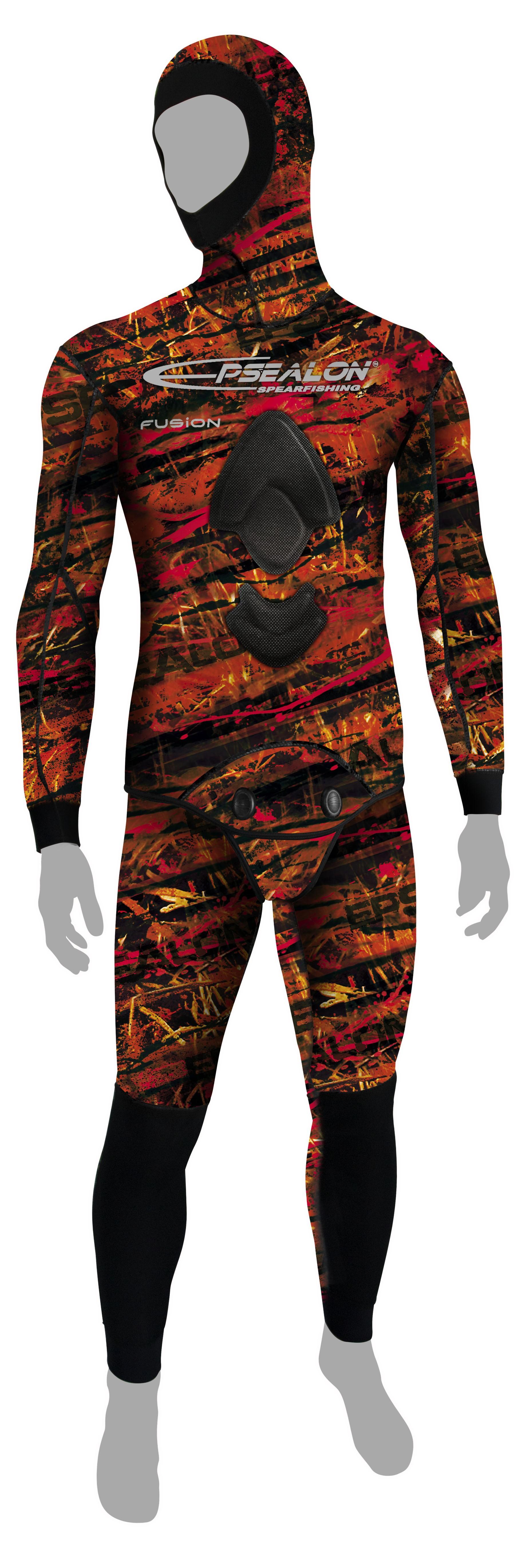 Combinaison Epsealon Red Fusion V2 (Veste 5 mm + pantalon 5 mm)