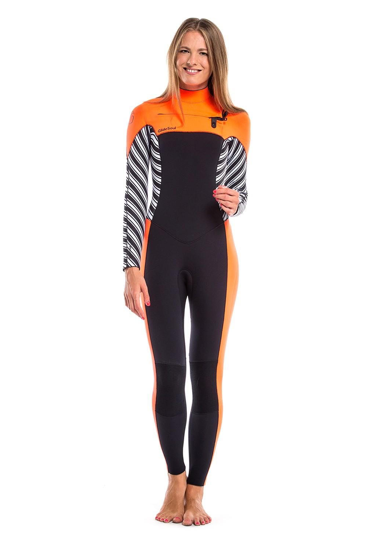Combinaison femme GlideSoul Full 5/4mm (Stripes/Black)
