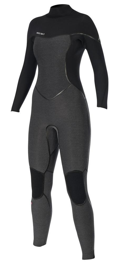 Combinaison femme Prolimit Oxygen 6/4mm Noir/Grise (BackZip)