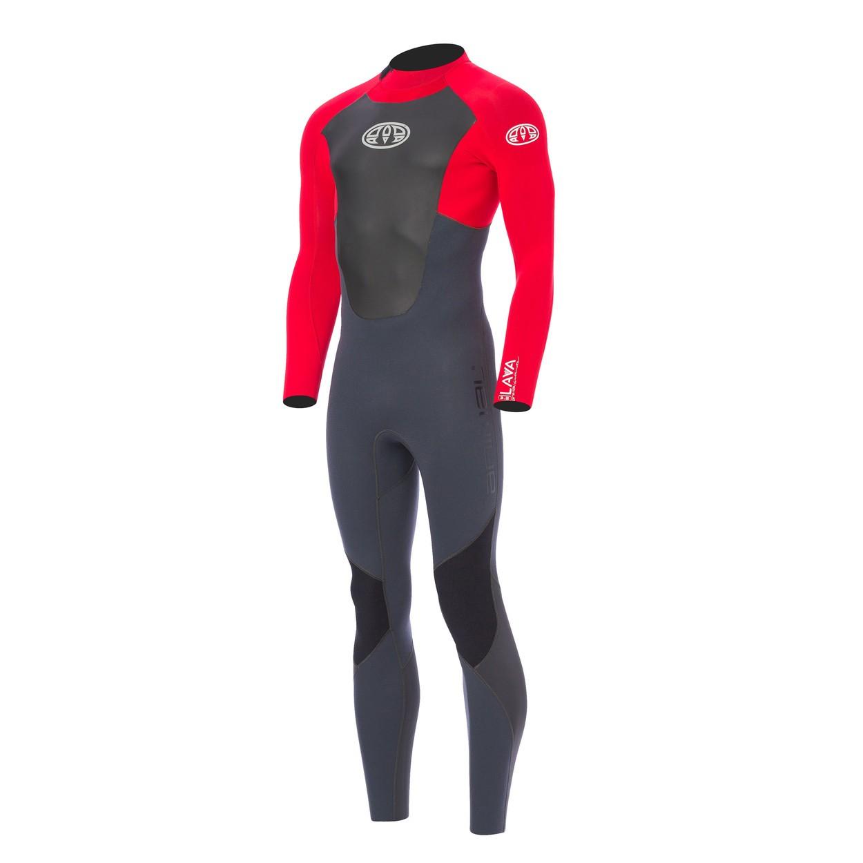 Combinaison de surf Animal Lava 3/2 mm (BackZip) Rouge