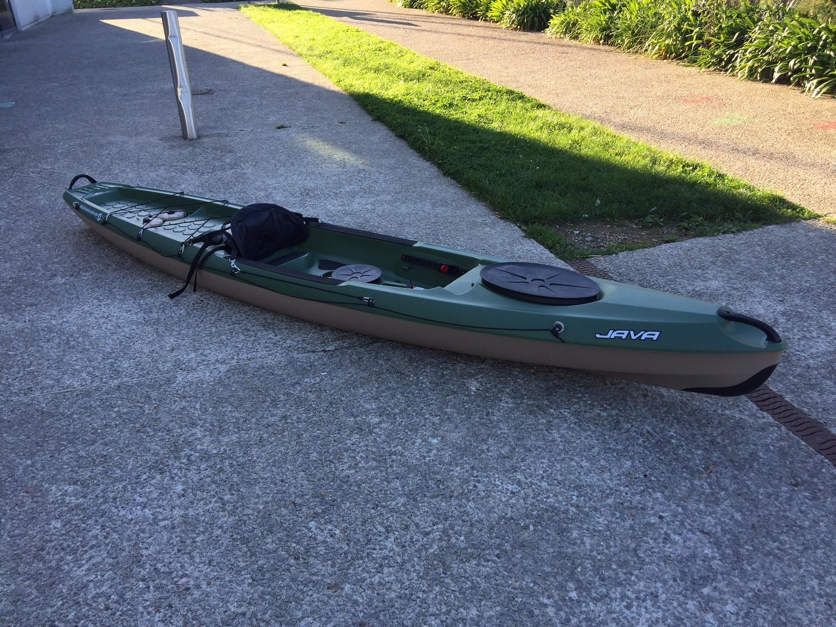 Kayak de pêche Bic Java Fishing occasion de test + dosseret  + pagaie