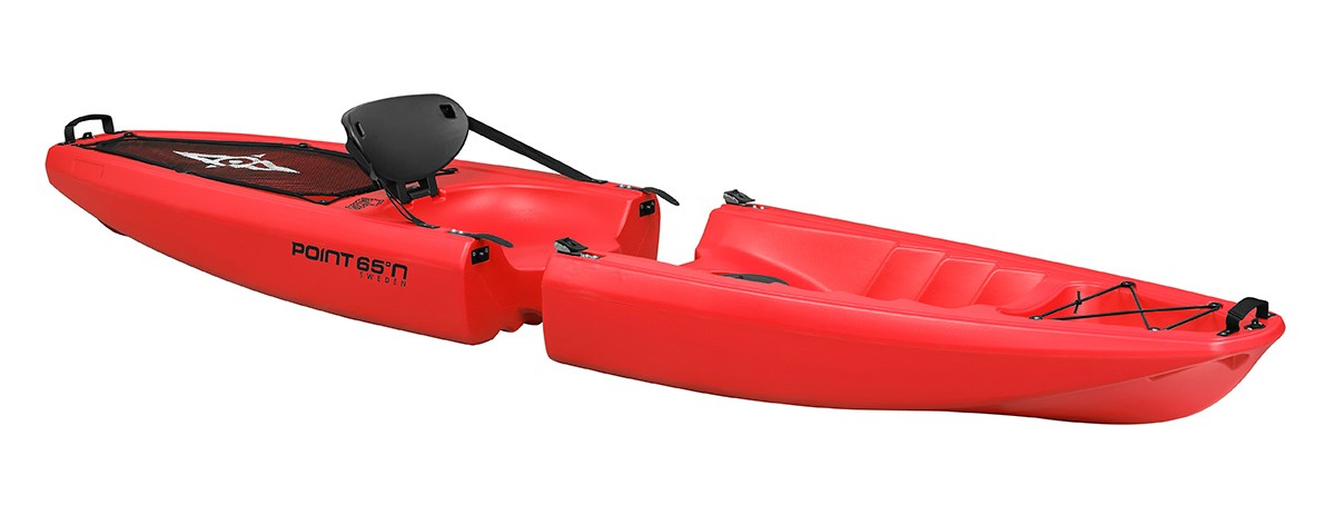 Kayak démontable Point 65 Falcon 1 place (Rouge)