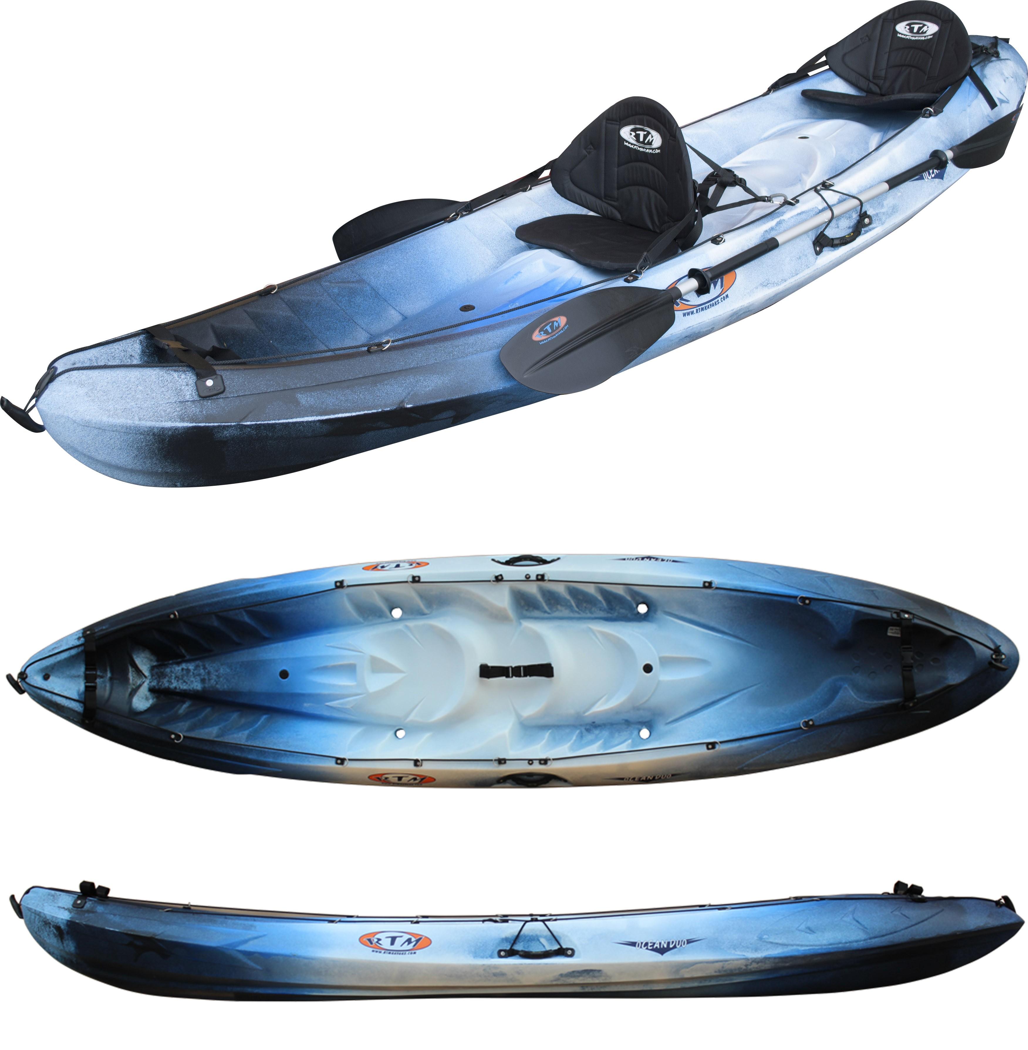 Kayak RTM Océan Duo (Couleur Freeze : Bleu et Noir)