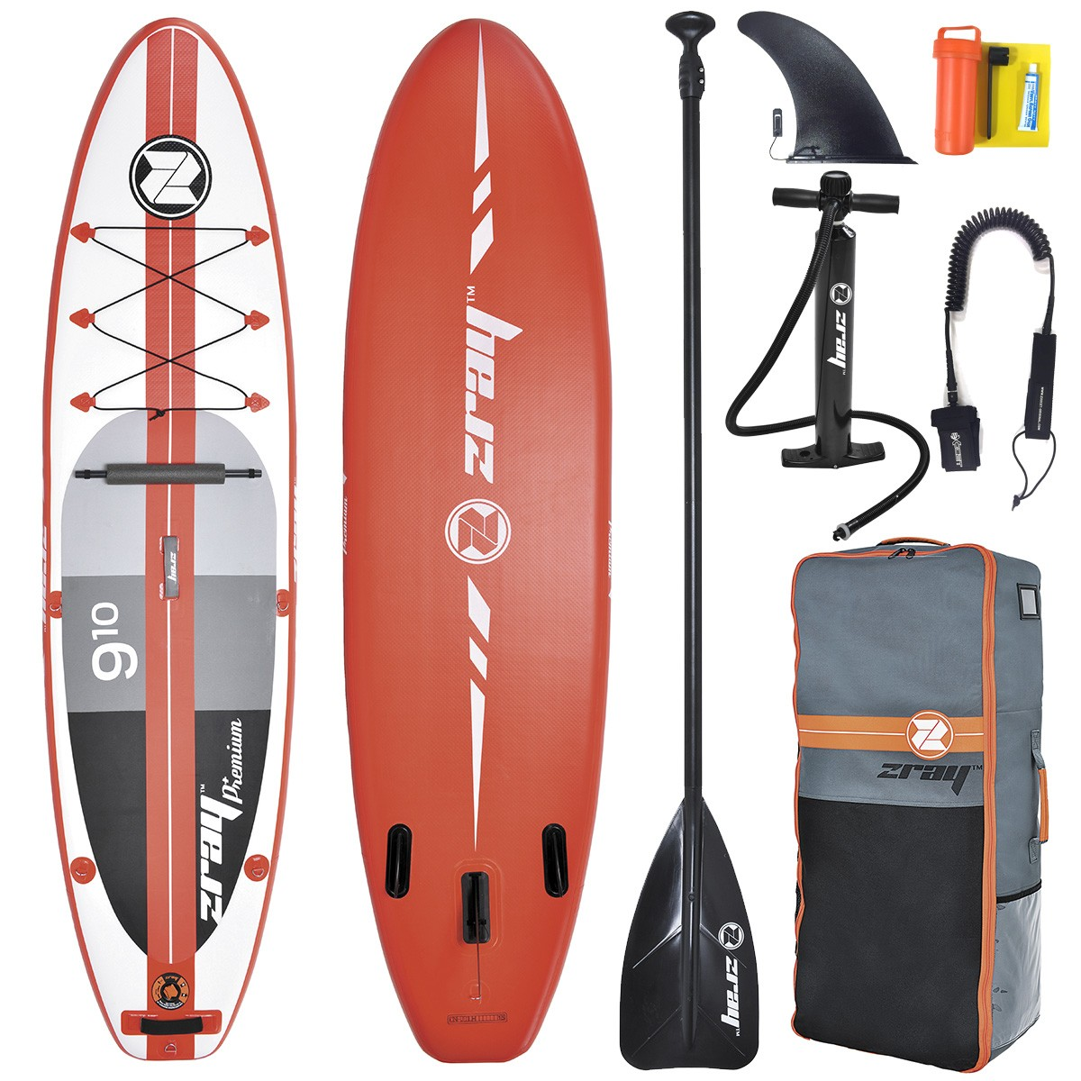 SUP Paddle Gonflable ZRay Premium A1 9'10 (+ Pagaie + Leash)