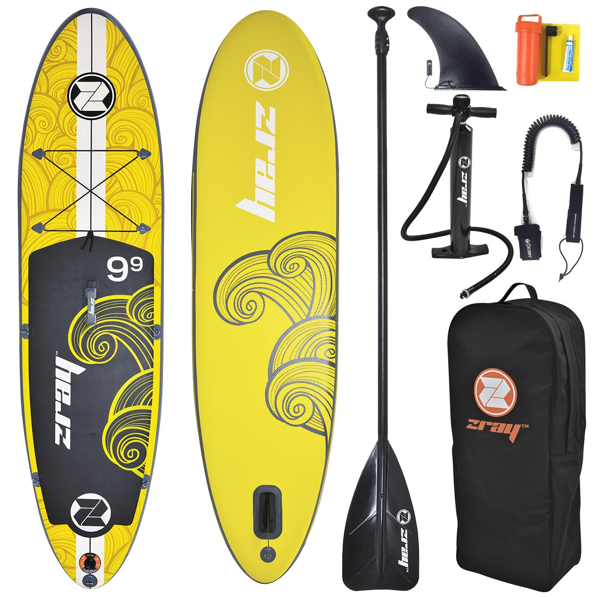 SUP Paddle Gonflable ZRay X1 9'9 (+ Pagaie + Leash)