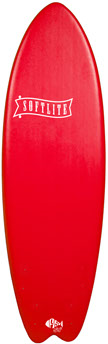 Planche de surf en mousse Softlite 5'9 Fish (Rouge)