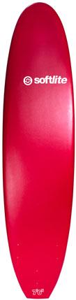 Planche de surf en mousse Softlite 7'6 Classic (Rouge)