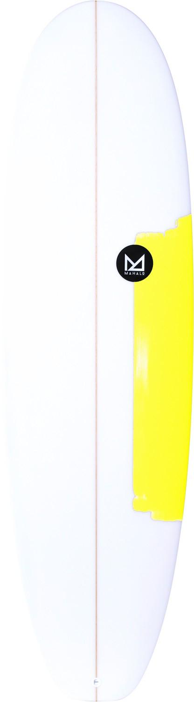 Planche de surf Mahalo 6'4 Squash Egg Lanikai (Fluo Yellow)