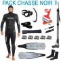 Pack complet chasse sous-marine noir 7mm